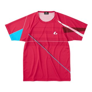 Uni ゲームシャツ〔襟なし〕(レッド) XLH3131
