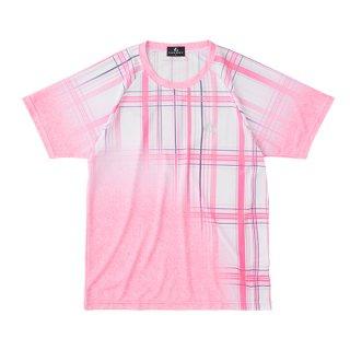 Uni ゲームシャツ〔襟なし〕(パステルピンク) XLH3142