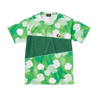 Uni ゲームシャツ〔襟なし〕(グリーン) XLH3165