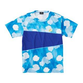 Uni ゲームシャツ〔襟なし〕(ブルー) XLH3167