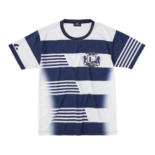 Uni ゲームシャツ〔襟なし〕(ネイビー) XLH3186