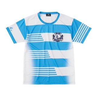 Uni ゲームシャツ〔襟なし〕(ブルー) XLH3187