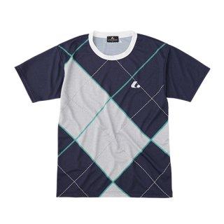 Uni ゲームシャツ〔襟なし〕(ネイビー) XLH3106