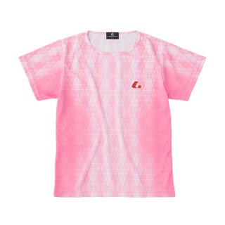 Ladies ゲームシャツ〔襟なし〕(パステルピンク) XLH2352