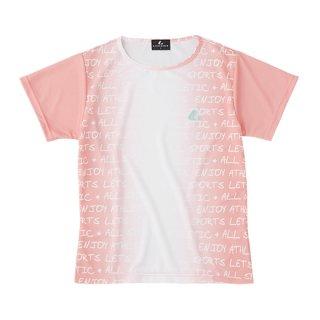Ladies ゲームシャツ〔襟なし〕(ライトピンク) XLH2401