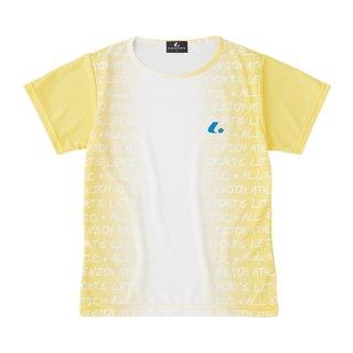 Ladies ゲームシャツ〔襟なし〕(ライトイエロー) XLH2403