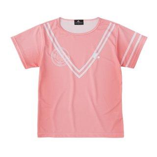 Ladies ゲームシャツ〔襟なし〕(ライトピンク) XLH2413