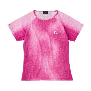 Ladies ゲームシャツ〔襟なし〕(ピンク) XLH2371