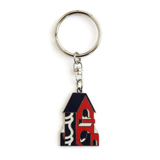 KAMI / KEY RING / Navy×Red