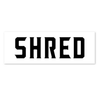 SHRED / SHRED LOGO STICKER / White