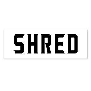 SHRED / SHRED LOGO STICKER / White