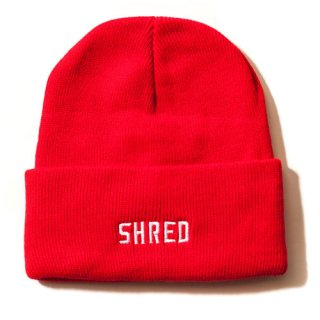 SHRED / SHRED LOGO BEANIE / Red