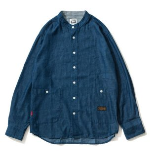 <img class='new_mark_img1' src='//img.shop-pro.jp/img/new/icons1.gif' style='border:none;display:inline;margin:0px;padding:0px;width:auto;' />Tightbooth /  DENIM BAND COLLAR SHIRT / 3 Color