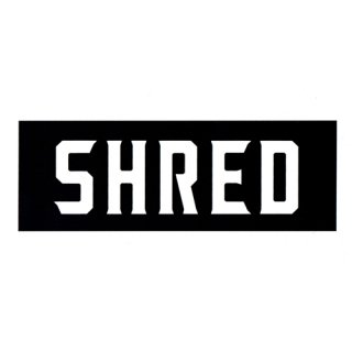 SHRED / SHRED LOGO STICKER / Black