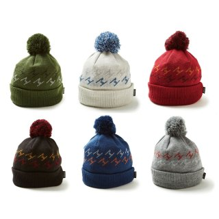 EVISEN / WYE POMPOM KNIT CAP / 5 Color