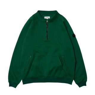 EVISEN / BAND COLLAR ZIP SWEAT