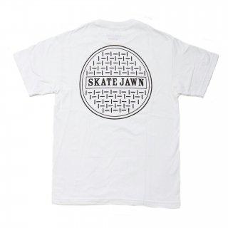 SKATE JAWN - Sewercap Tee - White