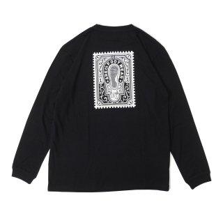 AREth - Stamp L/S T-Shirts - Black