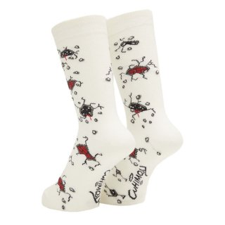 WHIMSY - CRACK THE WORLD SOCKS - WHITE