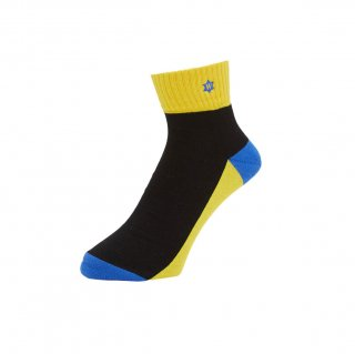 WHIMSY - VERSE HEADS SOCKS - YELLOW