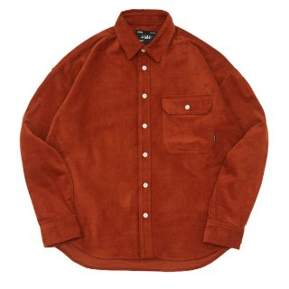 WHIMSY - CORDUROY DROP SHOULDER SHIRT - Rust