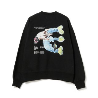 EVISEN × HOLE AND HOLLAND - FISH SIGN CREW SWEAT