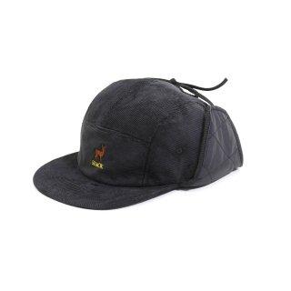 SNACK - BUCK EARFLAP HAT - Black