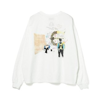 EVISEN × HOLE AND HOLLAND - ROLL IN LS T-SHIRT - White