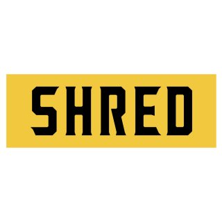 SHRED - SHRED LOGO STICKER BIG - Yellow