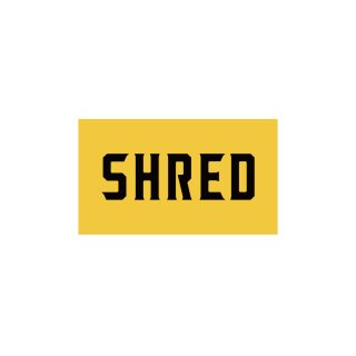 SHRED - SHRED LOGO STICKER SMALL - Yellow