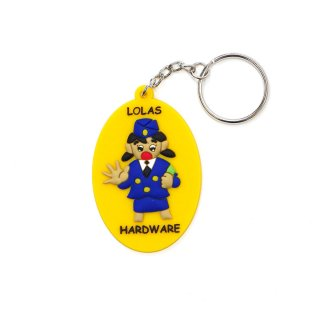 LOLA'S Hardware - STOP!! Rubber Keychain