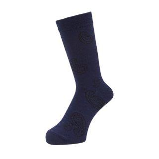 WHIMSY - Big Paisley Socks - Navy