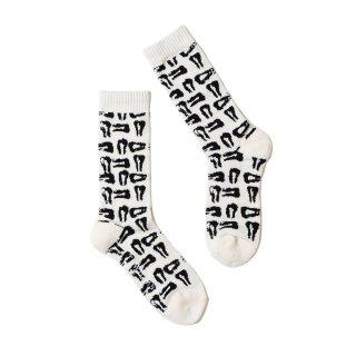 TIGHTBOOTH - MAD COW FOOTPRINT SOCKS(TIGHTBOOTH x WHIMSY SOCKS)