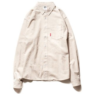TBPR / COTTON STRIPE SHIRT / Natural