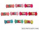 【デコパーツ10個】 イチゴ袋キャンディMIX