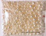 穴なし全円パールサイズ ツルツルオフホワイト 約500粒入り(約30g)MIX