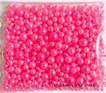 穴なし全円パールサイズ ツルツルローズ 約500粒入り(約30g)MIX