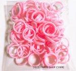 【アクセパーツ】 キッズ指輪ピンクパーツ50個1セット