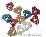 【デコパーツ10個】 ラメバージョンダイヤ型MIX