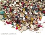 スワロガラスストーン サイズ&カラーMIX約100粒