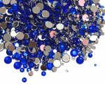 高品質ダイヤカットストーン サイズMIX ブルー