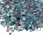 高品質ダイヤカットストーン サイズMIX 新色薄ブルー