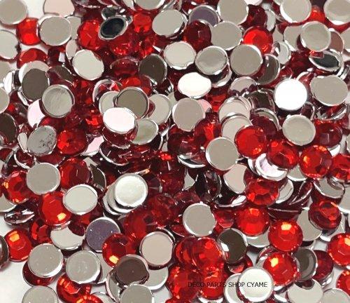 高品質ダイヤカットストーン レッド