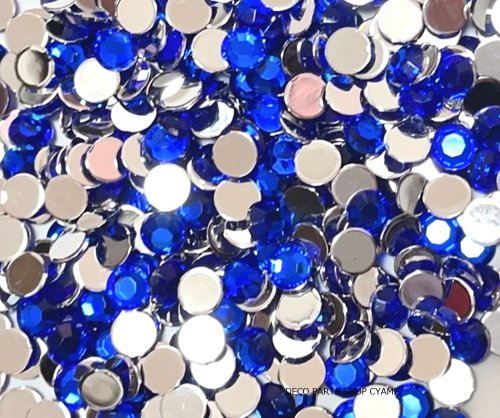 高品質ダイヤカットストーン ブルー