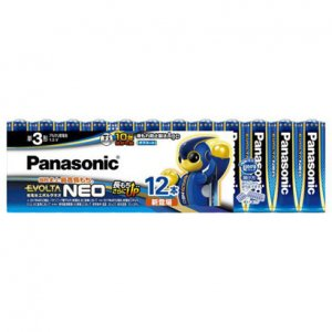 Panasonic EVOLTA NEO 単3形アルカリ乾電池 12本パック