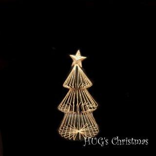 ラメワイヤーツリー ゴールド2712S<br>HUGセレクトクリスマスオーナメント