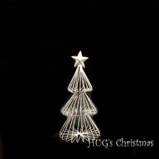 ラメワイヤーツリー シルバー 2715S<br>HUGセレクトクリスマスオーナメント