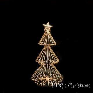 ラメワイヤーツリー ゴールド 2713M<br>HUGセレクトクリスマスオーナメント