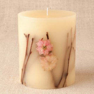 Rosy Rings ロージーリングス<br>  Botanical candle キャンドル<br> チェリーブラッサム Tall Round<br>