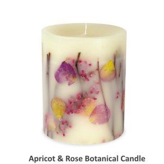 Rosy Rings ロージーリングス<br>  Botanical candle キャンドル<br> アプリコット&ローズ Tall Round<br>